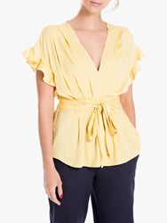 Max Studio Short Sleeve Tie Front Top Maise