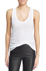 Zadig And Voltaire Women's 'Dean' Scoop Neck Tank Blanc
