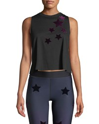 Ultracor Velvet Star Racerback Tank Black Red