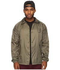 Huf Bundy Coachs Jacket Olive Men's Coat