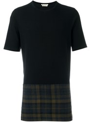 Marni Tartan Panel T Shirt Black