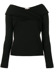 Emilio Pucci Fitted Long Sleeved Top Black