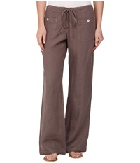 Allen Allen Linen Long Pant Ll9497 Mushroom Women's Casual Pants Gray