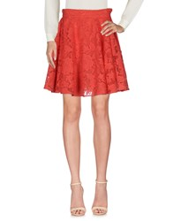 Si Jay Knee Length Skirts Coral