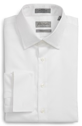 John W. Nordstrom Traditional Fit Non Iron Solid Dress Shirt White