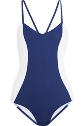 Iris And Ink Color Block Swimsuit Blue