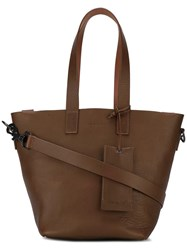 Marsell Multiple Straps Tote Brown