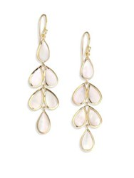 Ippolita Rock Candy Collection Pearl Linear Cascade Earrings Gold Ivory
