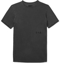 Rta 25 Logo Print Cotton Jersey T Shirt Charcoal