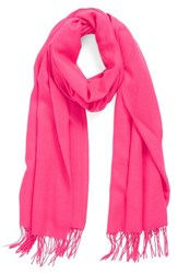 Women's Nordstrom Tissue Weight Wool And Cashmere Scarf Pink Pink Sorbet