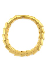Louise Et Cie Faceted Collar Necklace Gold