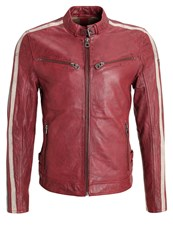 Gipsy Heroes Leather Jacket Rot Red