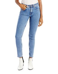 Levi's High Rise Watermark Skinny Jeans Light Blue