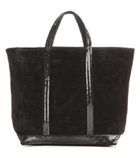 Vanessa Bruno Cabas Medium Suede Shopper Black