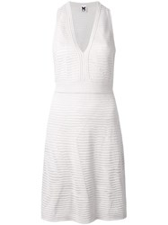 M Missoni V Neck Fitted Dress Grey