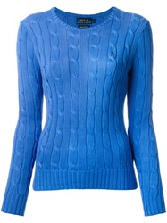 Polo Ralph Lauren Cable Knit Sweater Blue