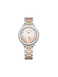 Fendi Two Tone Run Away Watch Silver