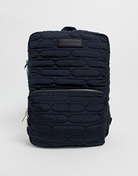 Hunter Refined Quilted Backpack Black