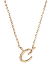 Anne Klein Gold Tone Initial Pendant Necklace