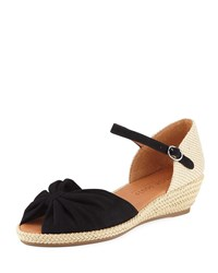 Gentle Souls Lucille Demi Wedge Espadrille Black