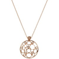 London Road 9Ct Rose Gold Diamond Bubble Pendant Necklace