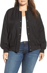 Vince Camuto Plus Size Women's Two By Rumpled Bomber Jacket