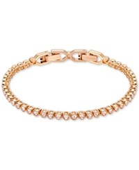 Swarovski Crystal Tennis Bracelet Rose Gold