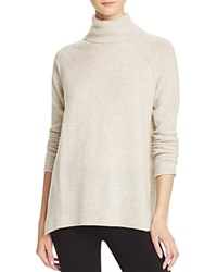 Bloomingdale's C By Raglan Pointelle Turtleneck Cashmere Sweater Frost