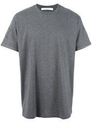 Givenchy Cuban Fit Star Embroidered T Shirt Grey