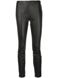 Red Valentino Skinny Flat Front Trousers Black