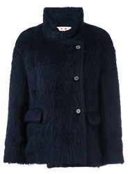 Marni Mandarin Collar Jacket Blue