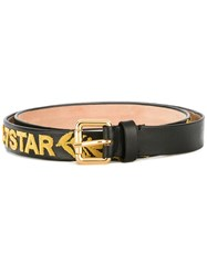 Dsquared2 Applique Logo Thin Belt Black