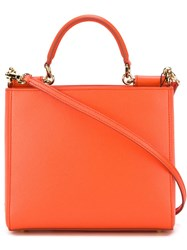 Dolce And Gabbana Mini 'Miss Sicily' Tote Yellow And Orange