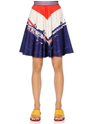 Tommy Hilfiger Collection Printed Cotton Satin Skirt