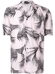 Loveless Leaf Print Shirt Pink
