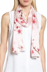 Ted Baker 'S London Soft Blossom Silk Skinny Scarf Light Pink