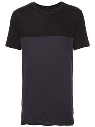 Unravel Project Two Tone T Shirt Black
