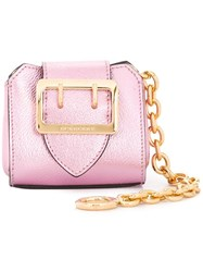 Burberry Oversized Buckle Mini Clutch Pink Purple