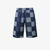 Sophnet. Patchwork Easy Shorts Blue