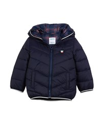 Mayoral Mazapan Padded Hooded Coat Size 12 36 Months Blue