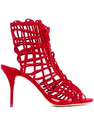 Sophia Webster Strappy Ankle Sandals Red