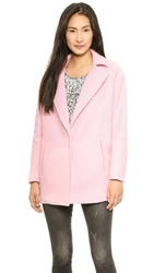 J.O.A. Oversized Coat With Big Lapels Pink