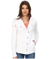 Mod O Doc Timeless Slub Jersey Snap Jacket White Women's Coat