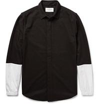 Public School Two Tone Panelled Jersey Shirt Black