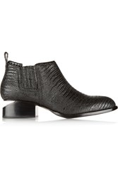 Alexander Wang Kori Lizard Effect Leather Ankle Boots Unknown