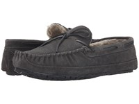 Minnetonka Casey Slipper Charcoal Men's Moccasin Shoes Gray