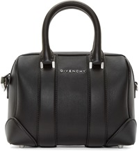 Givenchy Black Leather Micro Lucrezia Duffle Bag