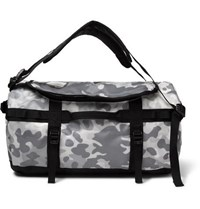 The North Face Base Camp Camouflage Print Coated Canvas Holdall Gray