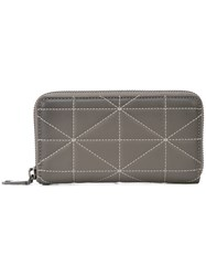 Coach Zip Around Phone Wallet In Quilted Leather Grey