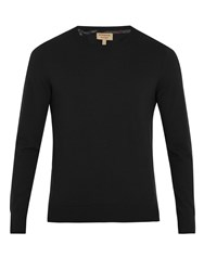 Burberry Kenneth Crew Neck Cashmere Sweater Black